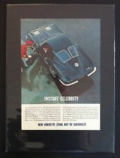 "1963 Chevrolet Corvette Sting Ray GM print ""Ready to Display"" car ad gift 1964"