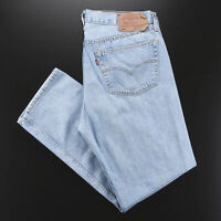 Vintage LEVI'S 501 Blue Denim Regular Straight Jeans Mens W35 L32