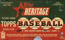 2001 TOPPS HERITAGE HOBBY SEALED BOX BASEBALL