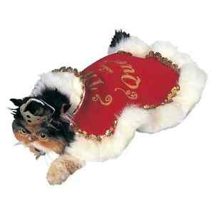 Queen Royal Red Velvet Cape Cute Fancy Dress Up Halloween Pet Dog Cat Costume