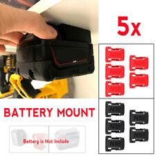 5Pcs Battery Mounts Holder Storage Stand Shelf  5x Rack For Milwaukee 18V Slot