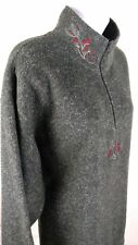 Victoria's Secret Country Women's Fleece Sweater 1/4 Zip Pullover Top Gray Large