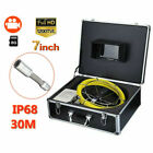 """7"""" LCD Color 30M Sewer Waterproof Camera Drain Pipe Pipeline Inspection System"""