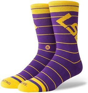 Stance Mens 179495 LSU Tigers Crew Sock Purple Size L