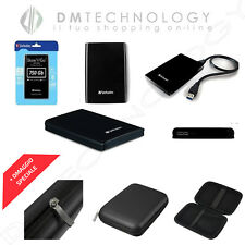 """Hard Disk esterno Verbatim 2 5"""" 500gb-750gb-1tb-2tb USB 2.0/3.0 Black 1tb"""