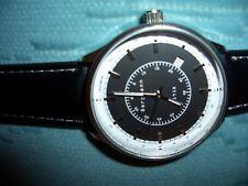 Bergmann Uhr1958NEU Zifferblatt schwarz/weiß mit aufgesetzte Metallzifferstegen