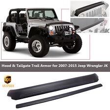 2x Hood Tailgate Protector Trail Armor Black 2007-2016 Jeep Wrangler JK 2&4 Door
