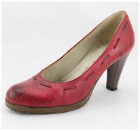 Pumps Gr. 41 Lederpumps rot Vintagelook (#3369)