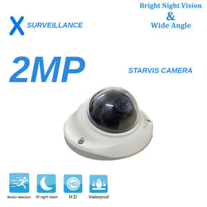 CCTV HD Sony Starvis 2MP/1080P Fixed 3.6mm Security Dome Camera White