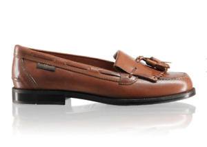Russell & Bromley Chester Tan Leather loafers 38 UK 5