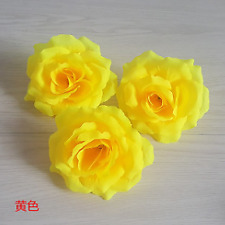 Artificial Rose Flowers Heads for Wedding Decoration Outdoor Bear Yellow Burgund
