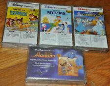 Disney Film Soundtrack Cassette Tape Lot Peter Pan Bambi Cinderella Aladdin