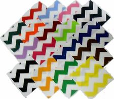 "68 5"" Quilting Fabric Sqs/Beautiful Bright LARGE Chevron Charm Packs BUY IT NOW"