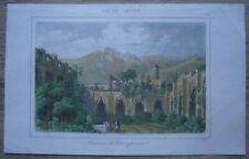 1853 print BELLAPAIS ABBEY, NEAR KYRENIA, CYPRUS (#28)
