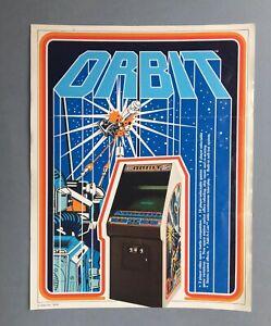 RARE VINTAGE ARCADE MACHINE  FLYER – ORBIT – GAME, ATARI, 1978.