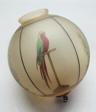Antique Handel-Style Art Glass Parrot Globe Ceiling Lamp  c. 1930