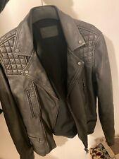 Men's All Saints Leather Biker Jacket Conroy. Size M Medium Not Cargo