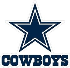 "Dallas Cowboys NFL Football bumper sticker wall decor large vinyl decal, 9""x9"""