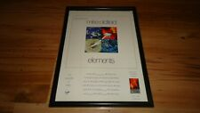 MIKE OLDFIELD elements-framed original advert