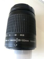 Nikon AF Nikkor 28-100mm f/3.5-5.6 G zoom lens for FX full frame or DX + filter
