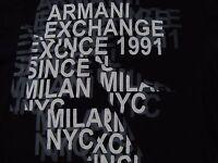 ARMANI EXCHANGE Black 100% Cotton Short Sleeve Graphic T-Shirt Size Small