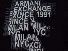 Mens ARMANI EXCHANGE Black 100% Cotton Short Sleeve Graphic T-Shirt Size Small