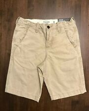 "ABERCROMBIE & FITCH *SIZE 26* MEN'S TAN ""CLASSIC FIT AT THE KNEE"" SHORTS *NEW*"