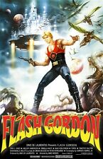 Flash Gordon movie poster 11 x 17 inches : Sam Jones,  Melody Anderson (style a)
