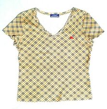 Burberry Blue Label vneck plaid classic cotton  Top