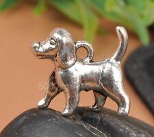 15Pcs tibetan silver tone cute dog design charms NECKLACE pendant  A3323