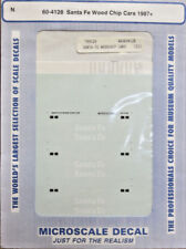 "Microscale 60-4128 ""Santa Fe Wood Chip Cars"" 1987+ Decal Set N Scale NOS"