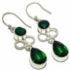 "Earring Jewelry 2.1"" S141383 Chrome Diopside Gemstone Ethnic Handmade"