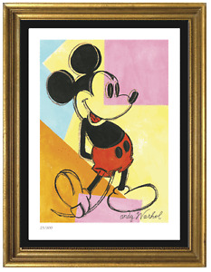 "Andy Warhol ""Mickey Mouse"" Signed & Hand-Numbered Ltd Ed Print (unframed)"
