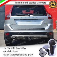 TERMINALE DI SCARICO SINGOLO PER MARMITTA TONDO CROMATO INOX VOLVO XC60 XC 60