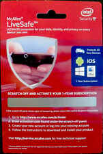 new RETAIL McAfee LiveSafe 2020-21 1-yr All devices & users PCs Macs Android iOS