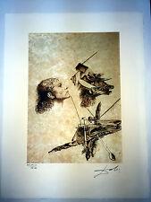 Salvador Dali Lithographie 50 x 65 Bfk Rives Timbre sec signé au crayon D268