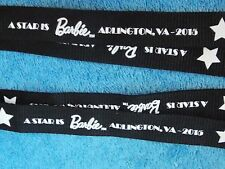Set of 2  2015 Barbie Doll Convention  Lanyard  A Star is Barbie