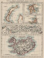 ARCTIC ISLANDS.Iceland Spitsbergen Franz Josef Land Novaya Zemlya 1900 old map