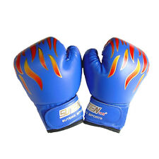 Children Kids FIRE Boxing Gloves Sparring Punching Fight Training Age 3-12 JR