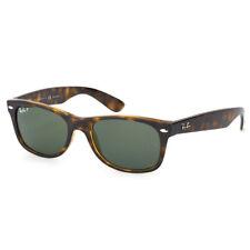 RayBan New Wayfarer POLARIZED Sunglasses Tortoise Green Classic 2132 55-18
