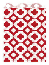 25 Pcs Red Flower Pattern 5x7 Print Paper Gift Bags Favor Candy Shop