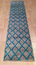 Rug Runner Door Mat Thick Dense Soft Pile 3d Modern Designs 2017 All Floors 70x300 Cm Honeycomb Silver Teal