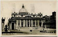 1924 Roma - S. Pietro Michetti 60 cent. dir. Francia tar. Estero FP B/N VG ANIM