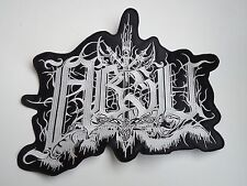 ABSU LOGO BLACK THRASH METAL EMBROIDERED BACK PATCH
