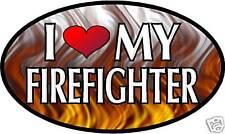 "5.75"" I LOVE MY FIREFIGHTER vinyl decal sticker.. FD"