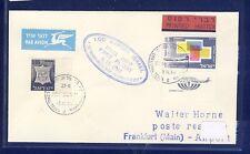 54833) LH FF Israel - Frankfurt 3.11.68, cover Brief