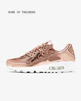 Nike Air Max 90 SP Rose Gold Metallic Red Girls Women's Trainers All Sizes