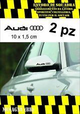 2 ADESIVI AUDI SPECCHIETTO Mirror STICKERS A3 A4 A5 A6 Q3 Q5 Q7 TT S-line S3 S4