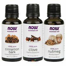 Cinnamon, Clove and Nutmeg essential oil 1 fl oz each Made in USA FREE SHIPPING