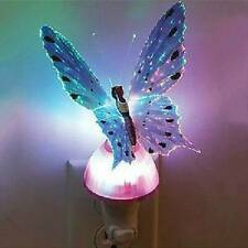 Novelty Fiber LED Color Changing Optic Butterfly Night Light Lamp room Decor